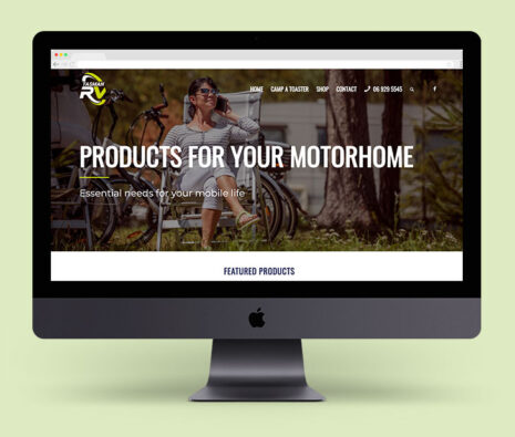 tasman rv ecommerce website built in Wordpress