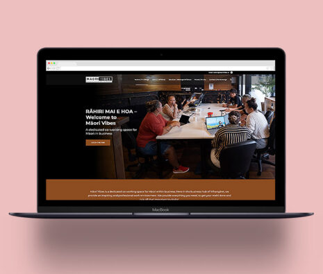 monster creative website design for maori co-working space