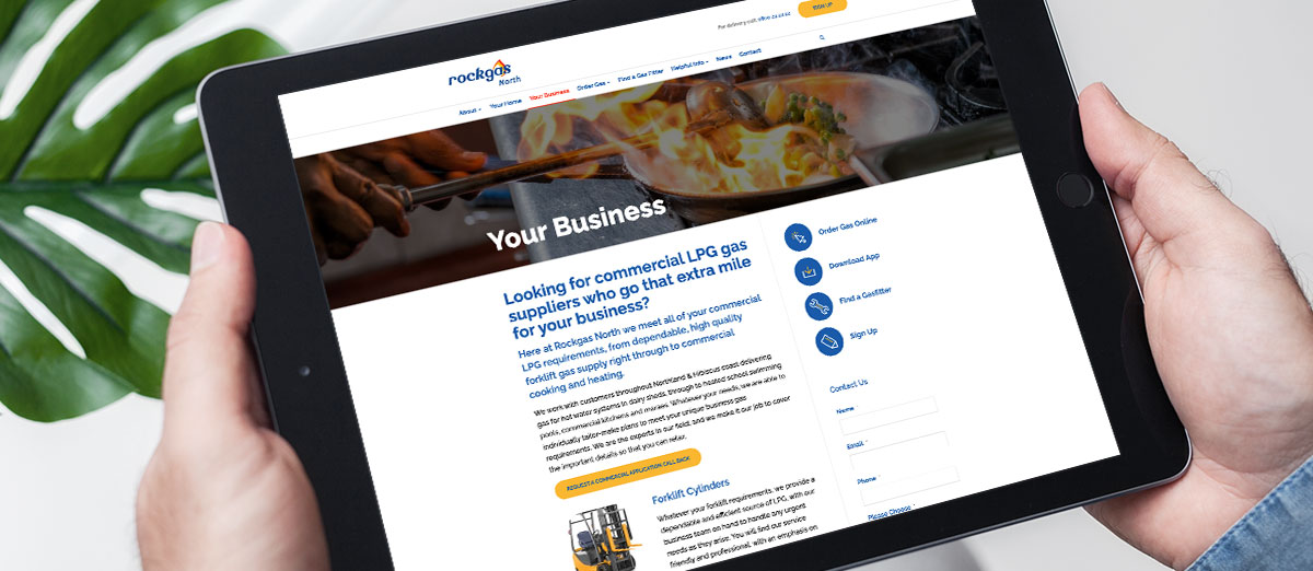 build a relationship with your website company rockgas ipad